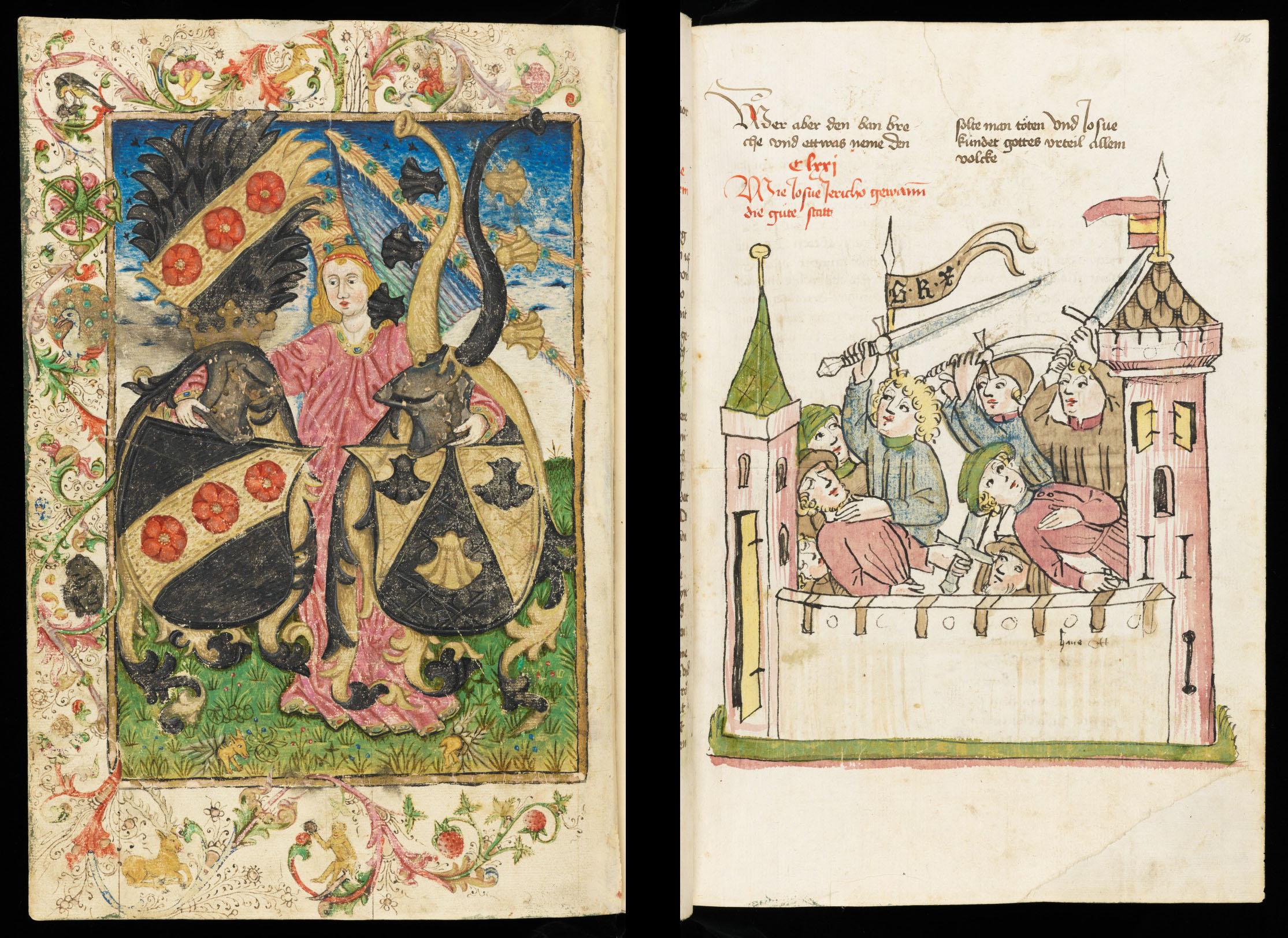 Mit schnellem Strich gemalt – Historienbibel aus der Werkstatt von Diepold Lauber, um 1450