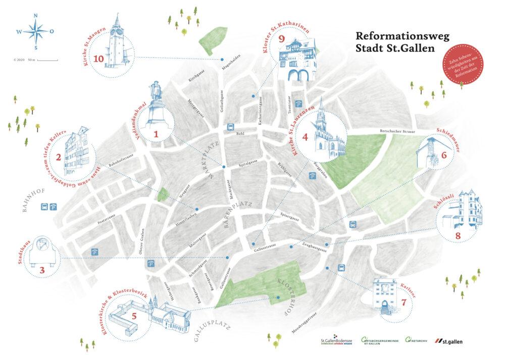 Ansicht Reformationsweg