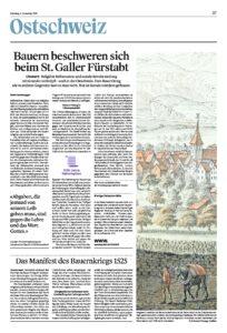 Bauern beschweren sich beim St. Galler Fürstabt
