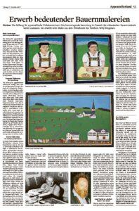 Erwerb bedeutender Bauernmalereien
