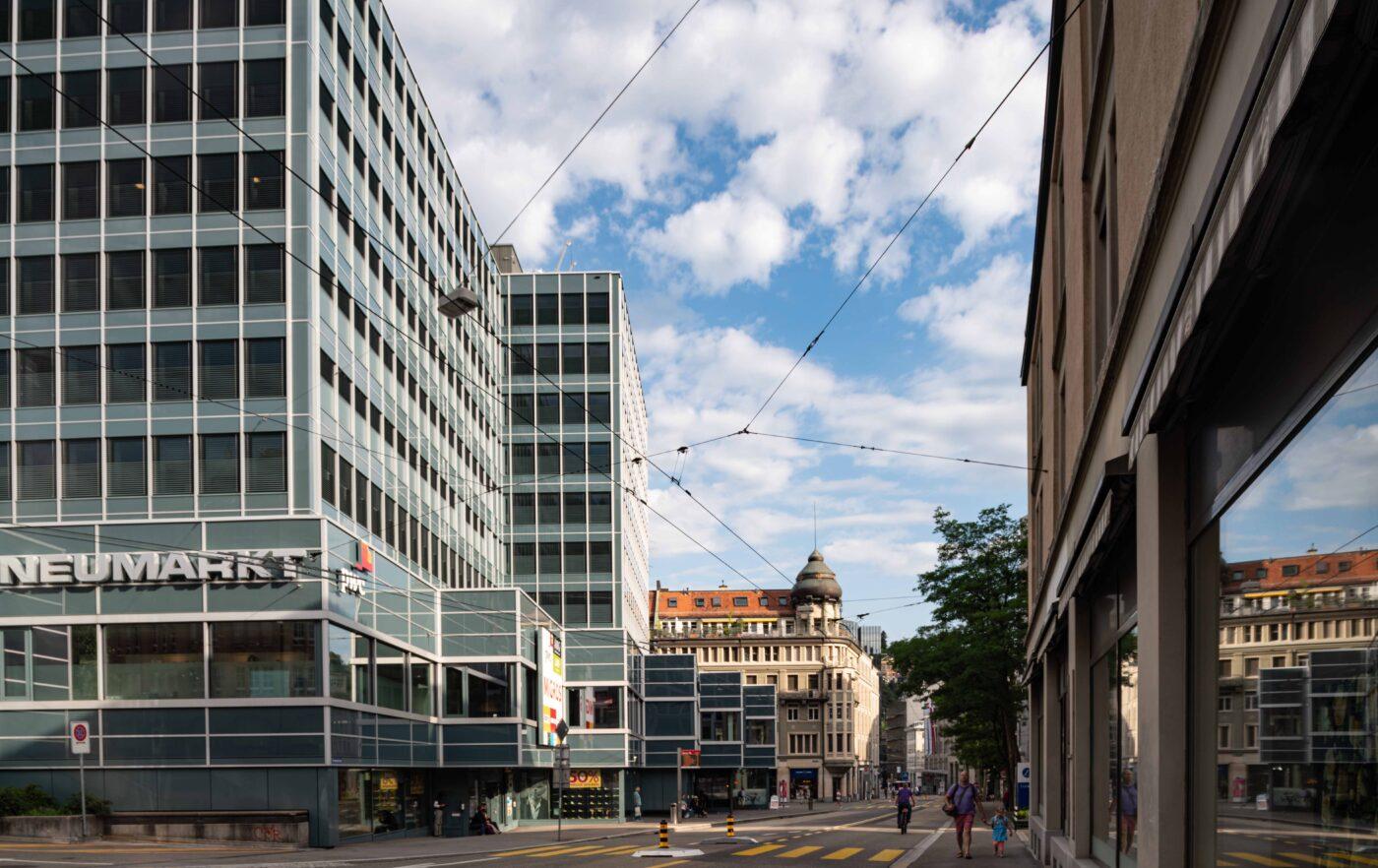 2019 und 1921: Bahnhofquartier, Kornhausstrasse