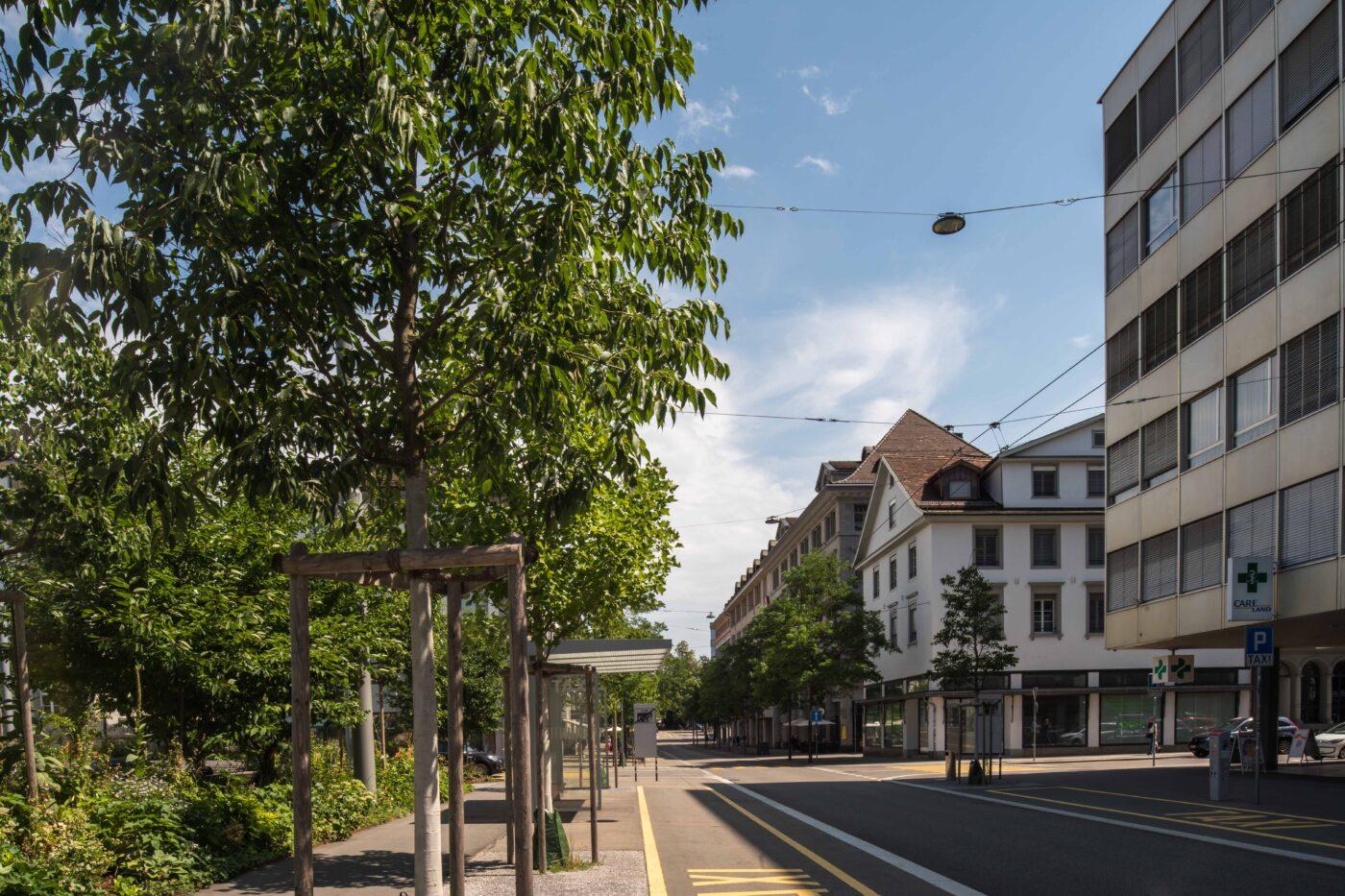 2019 und 1921: Bahnhofsquartier, Webersbleiche, Poststrasse