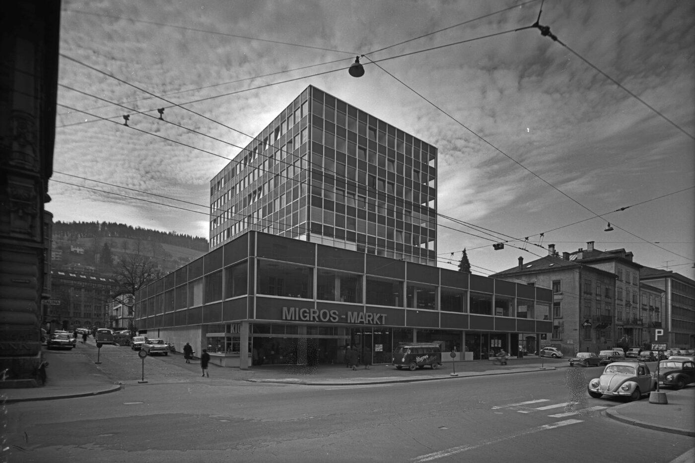 2019 und 1963: Bahnhofquartier, St.Leonhardstrasse