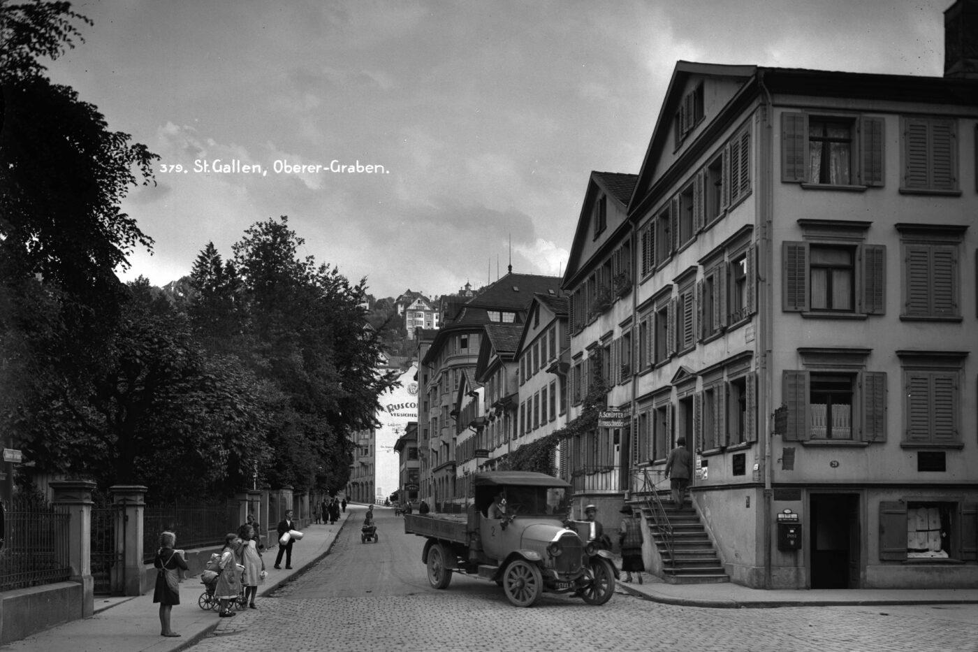 2019 und 1925: Altstadt, Oberer Graben