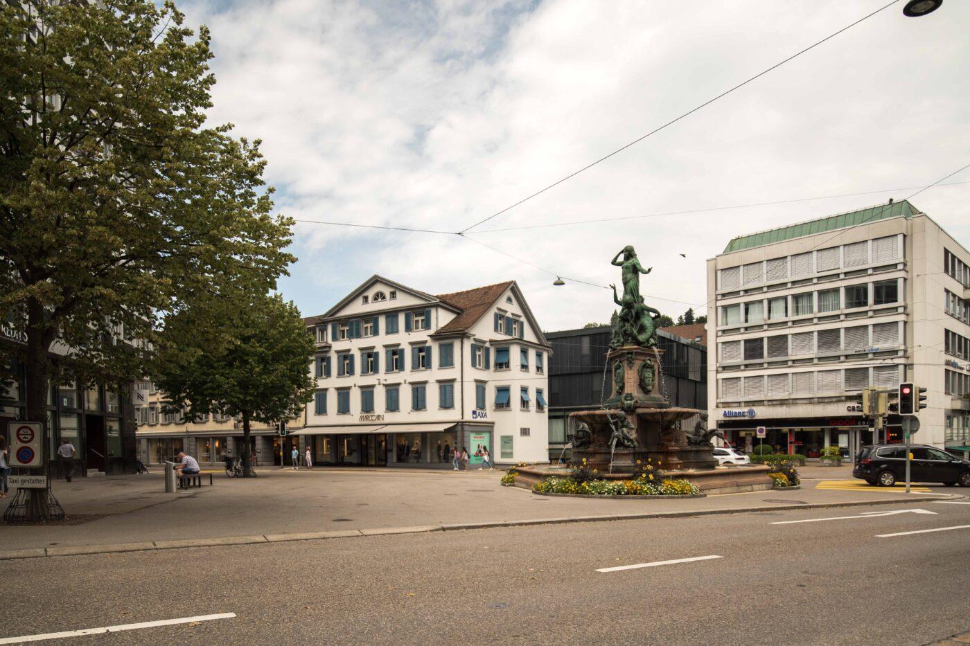 2019 und 1931: Broderbrunnen, Multertor, Webersbleiche