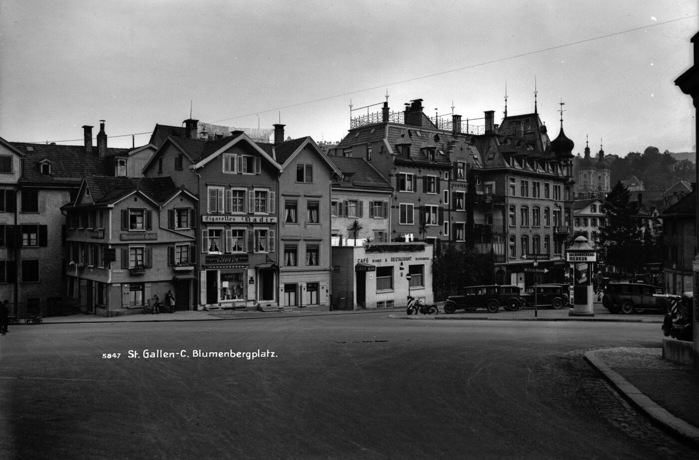 2019 und 1932: Altstadt, Blumenbergplatz, Unterer Graben
