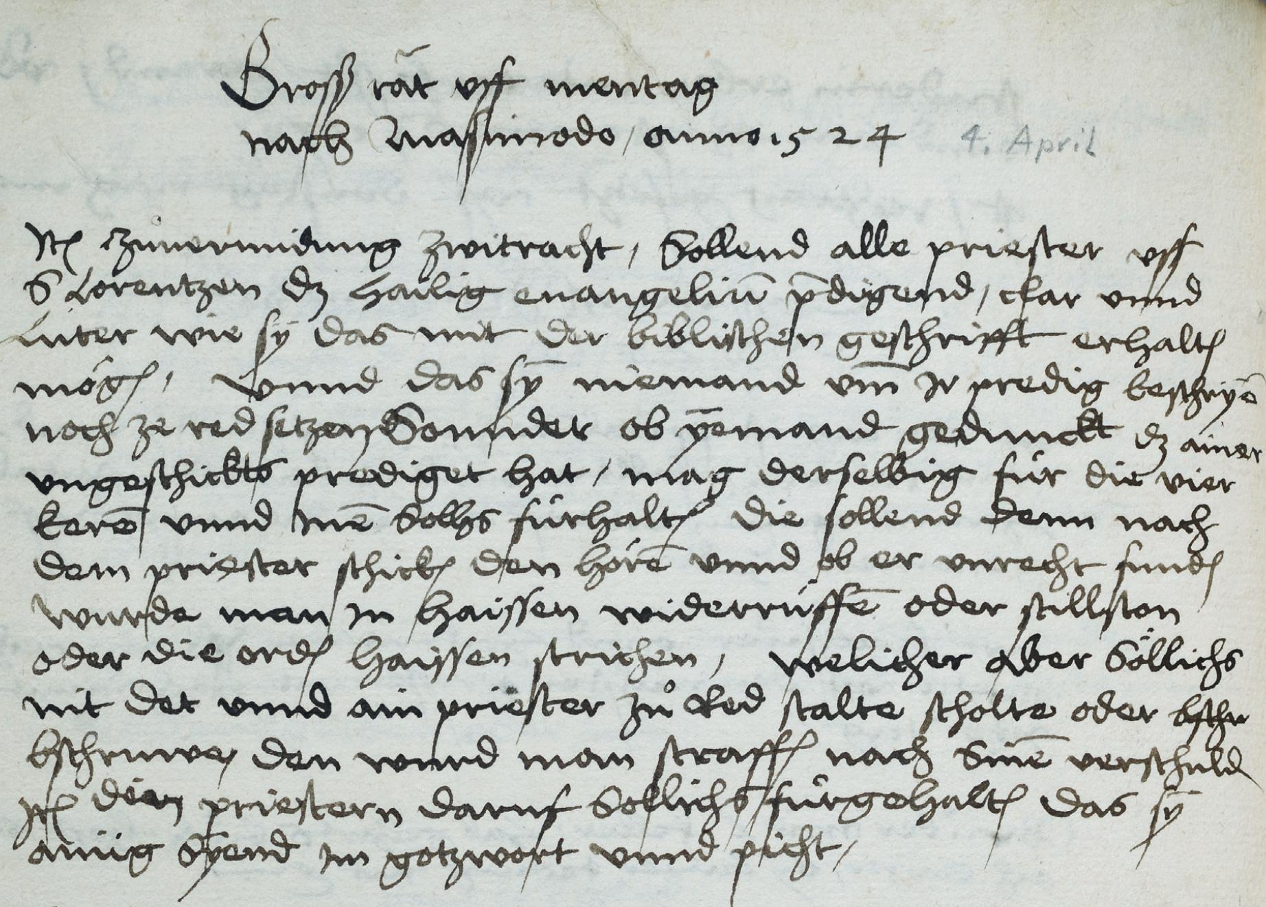 Nur das Wort Gottes: St. Gallen führt das Schriftprinzip ein