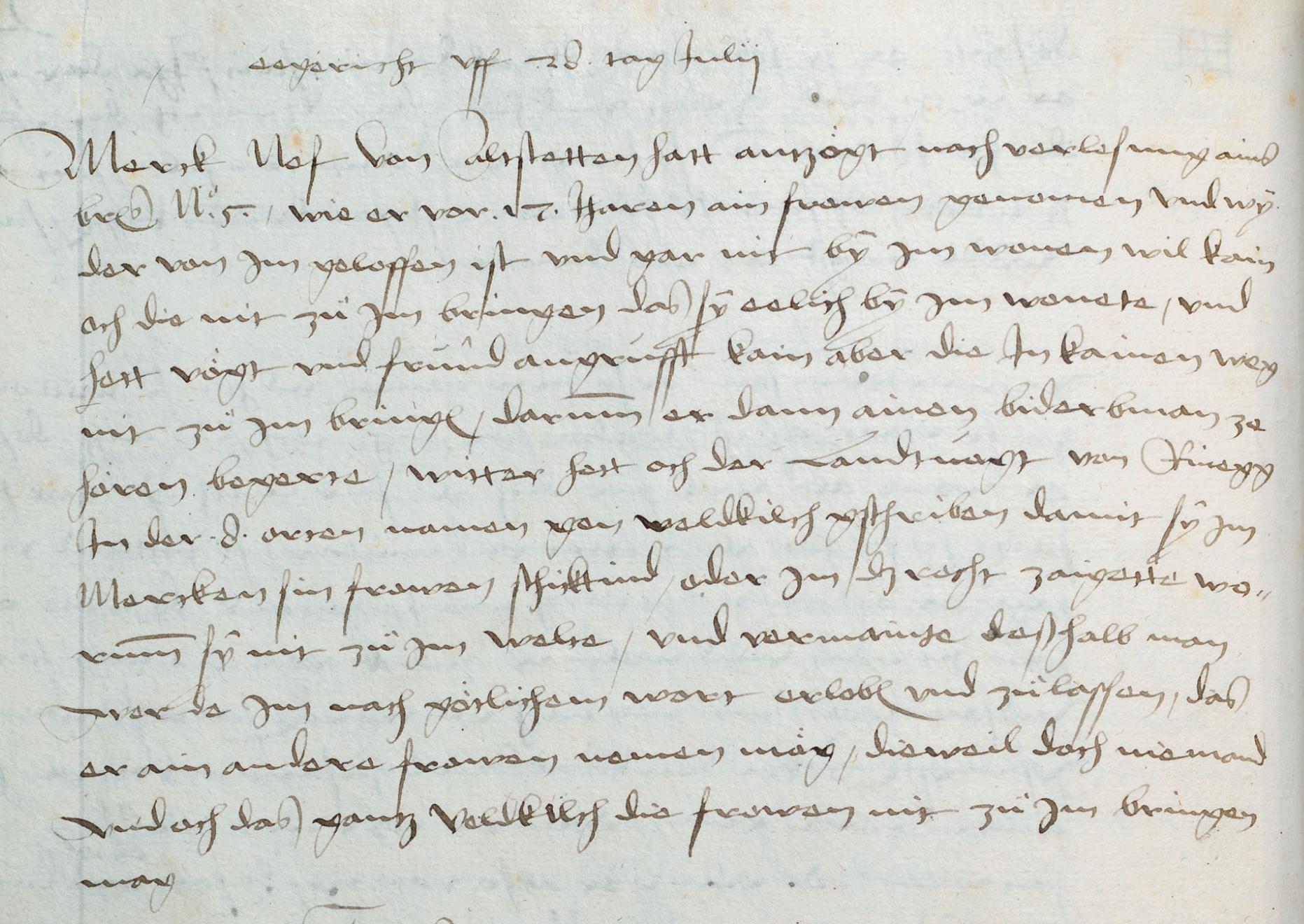 Scheidung in der reformierten Stadt. Das erste Ehegerichtsprotokoll aus St. Gallen