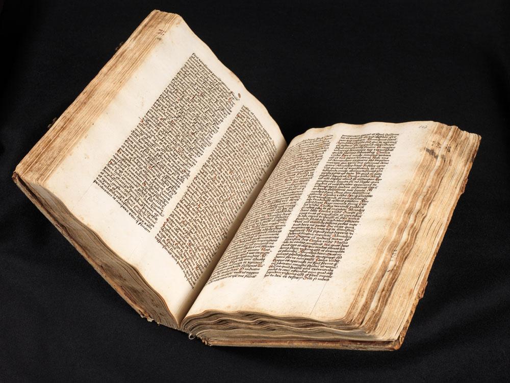 Ansicht mittelalterliche Handschrift