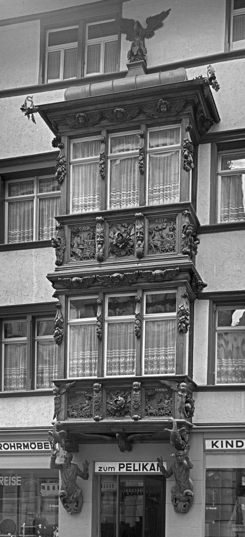 Der Erker am Haus zum Pelikan | Jahr 1707
