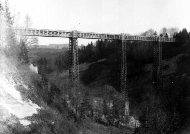 Erste Eisenbahnbrücke in St. Gallen | Jahr 1856