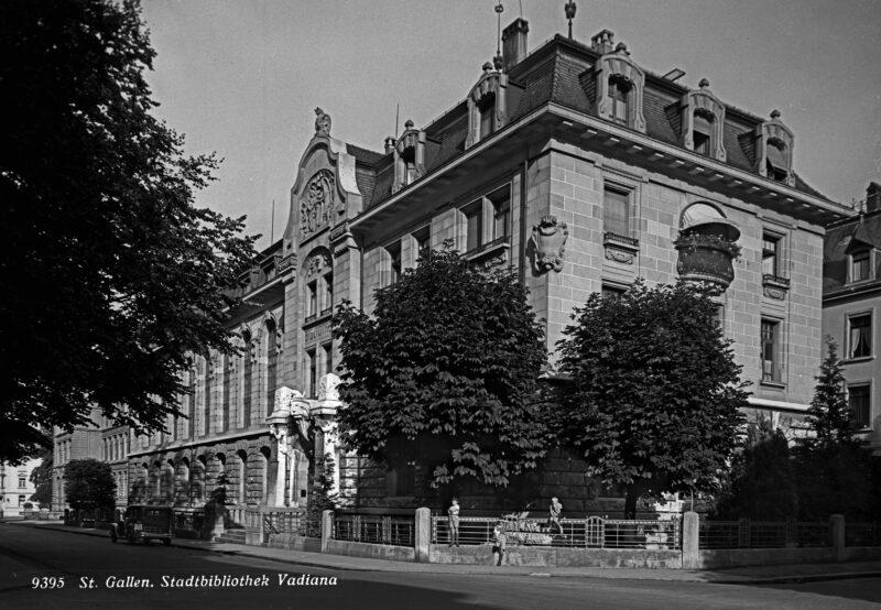 Neubau für Stadtbibliothek und Stadtarchiv (Vadiana) | Jahr 1907