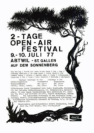 Das erste OpenAir St.Gallen findet statt | Jahr 1977