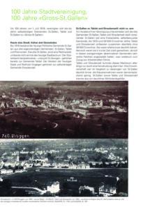 """100 Jahre Stadtvereinigung – 100 Jahre """"Gross St. Gallen"""""""