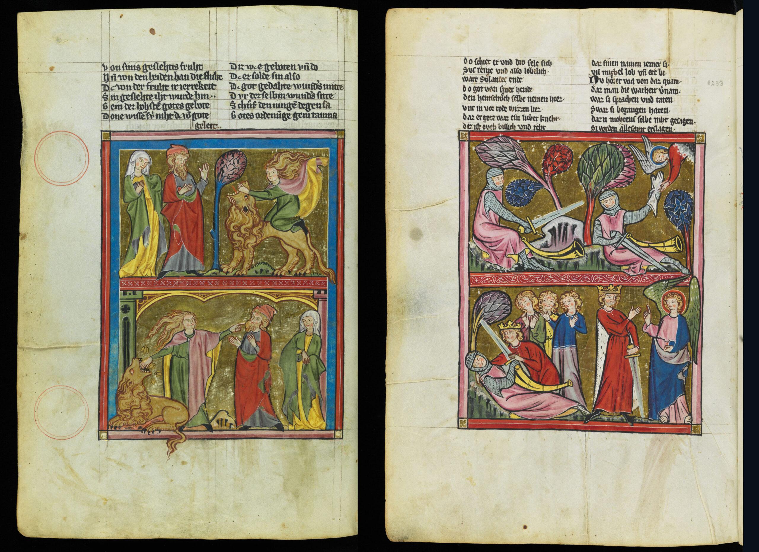 Prachthandschrift mit Goldminiaturen – Weltchronik und Karlsvita