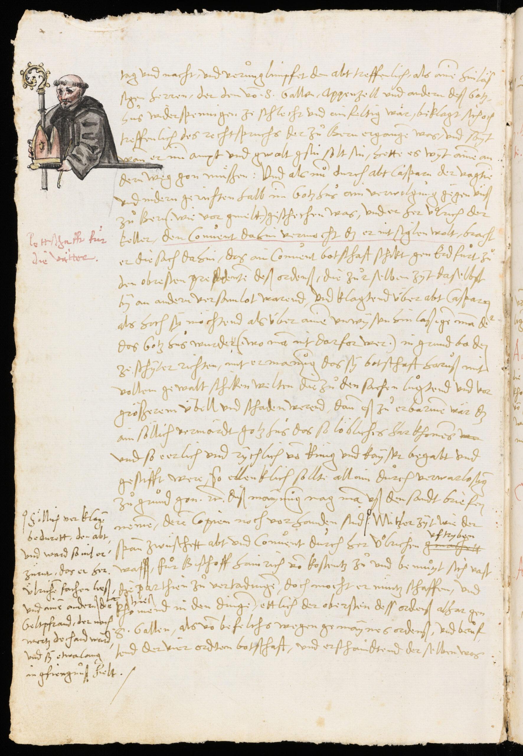 Temperamentvolle Streitschrift gegen das Kloster – Die grössere Chronik der Äbte von Joachim von Watt, 1529-1532