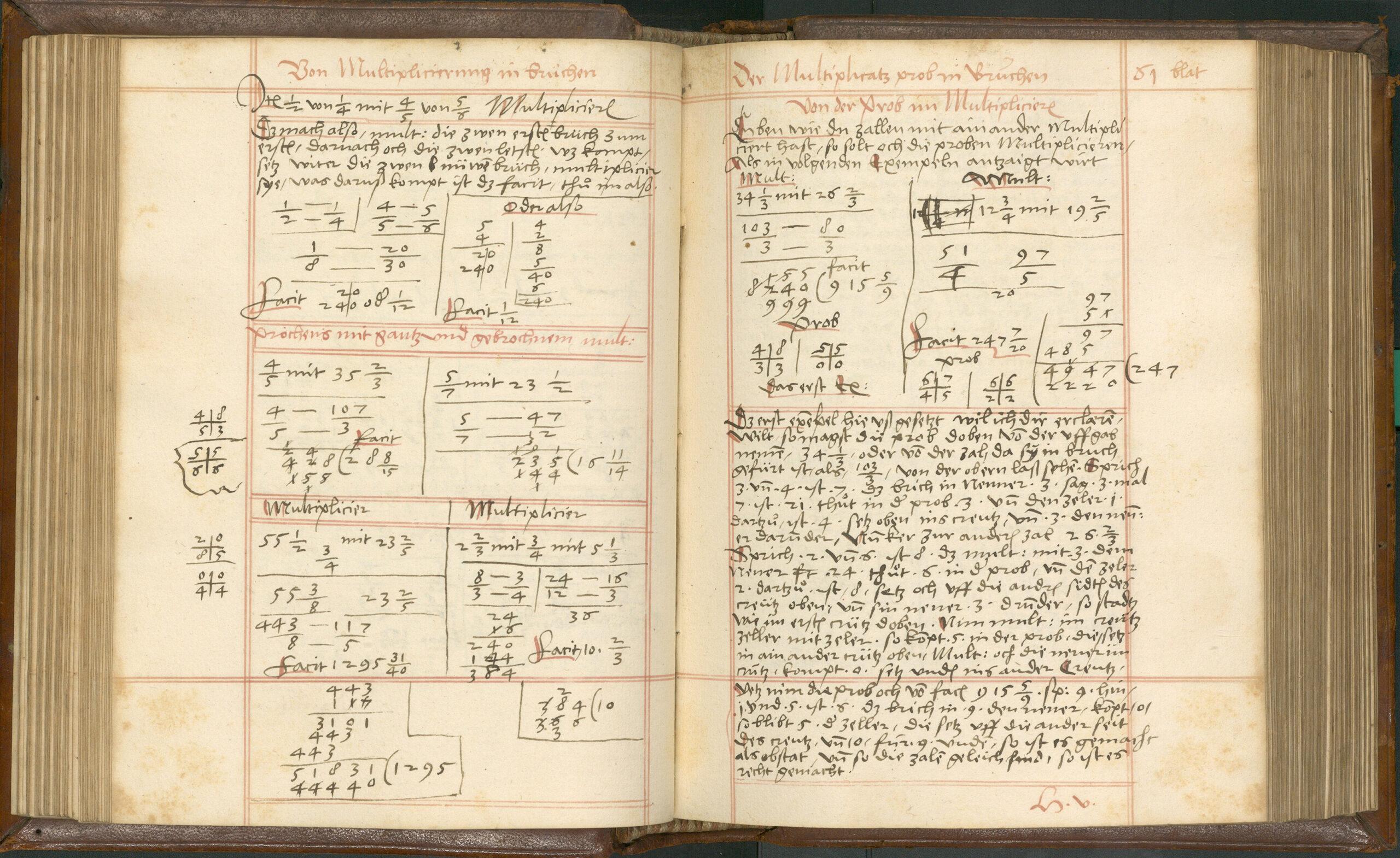 Kaufmännisches Rechnen anno 1546 – Ein schön und nutzlichs Rechenbüchlin von Clemens Hör