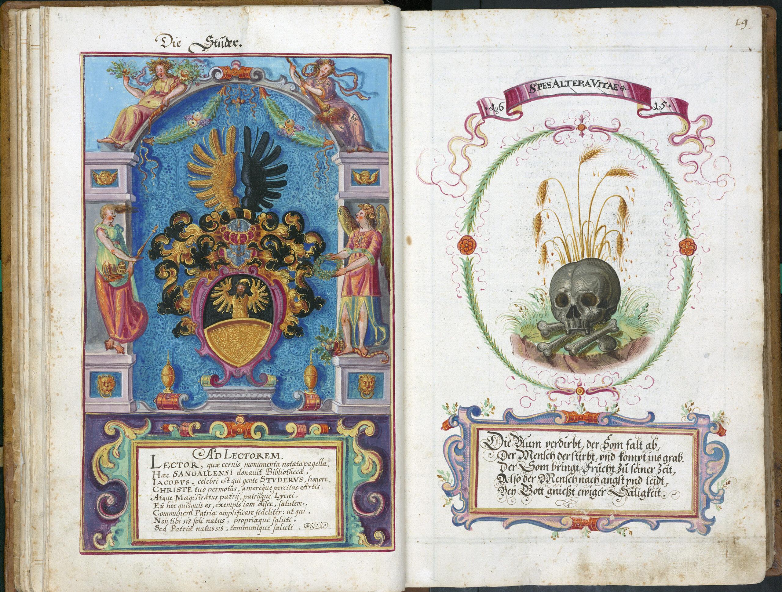Erstes Donatorenbuch von 1615-1750 – Büchergeschenke an die Stadt