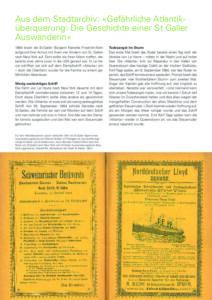 Gefährliche Atlantiküberquerung: Die Geschichte einer St. Galler Auswanderin