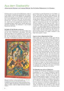 Brennende Statuen und weisse Wände: Der St. Galler Bildersturm im Kloster