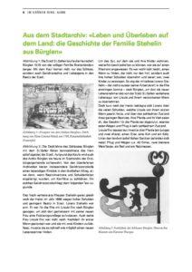 Leben und Überleben auf dem Land: die Geschichte der Familie Stehelin aus Bürglen