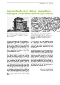 Betrug – Verzweiflung – Gefängnis. Geschichten aus der Burg Steinach