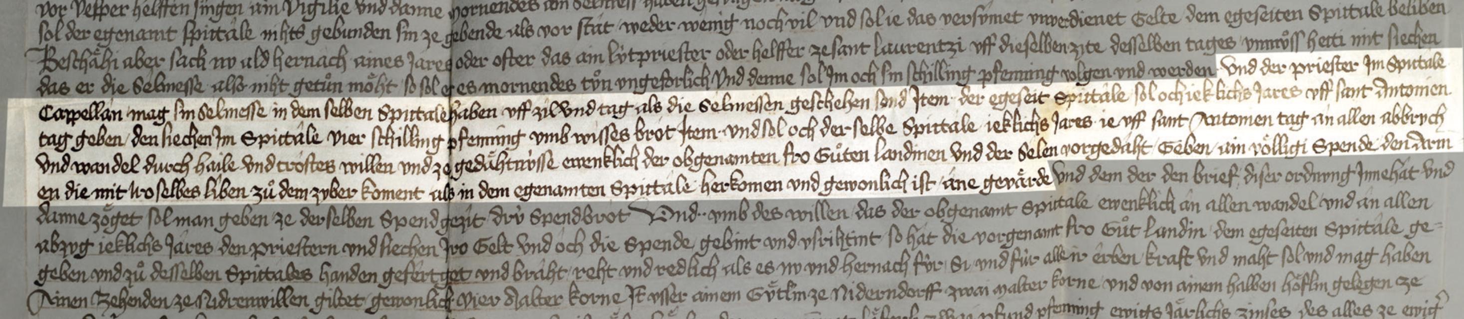 Wie es vor der Reformation war: Wohltätige Jahrzeitstiftungen im städtischen Spital